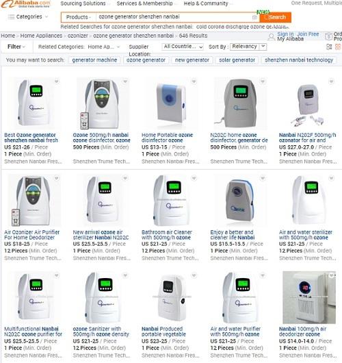 ozone generator Alibaba
